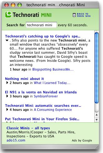technorati mini